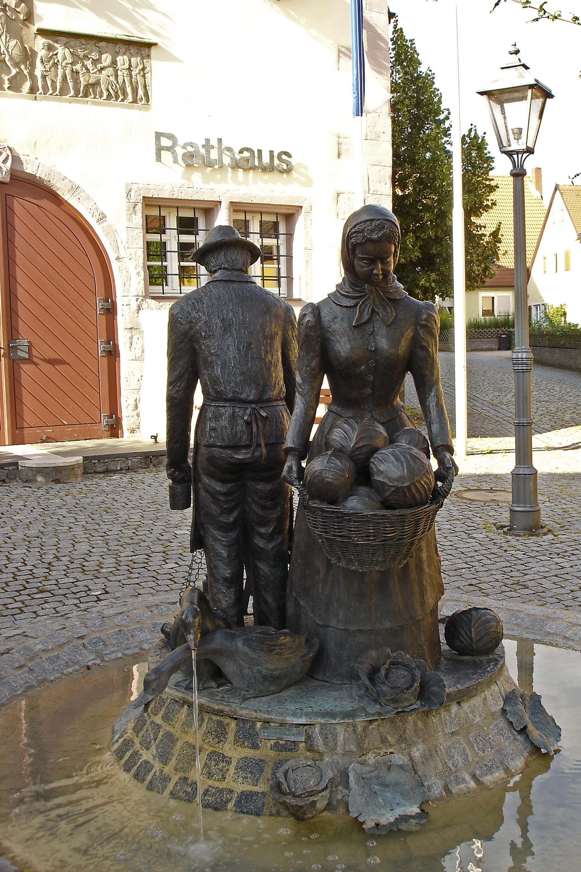 Krautbrunnen am Rathaus Merkendorf