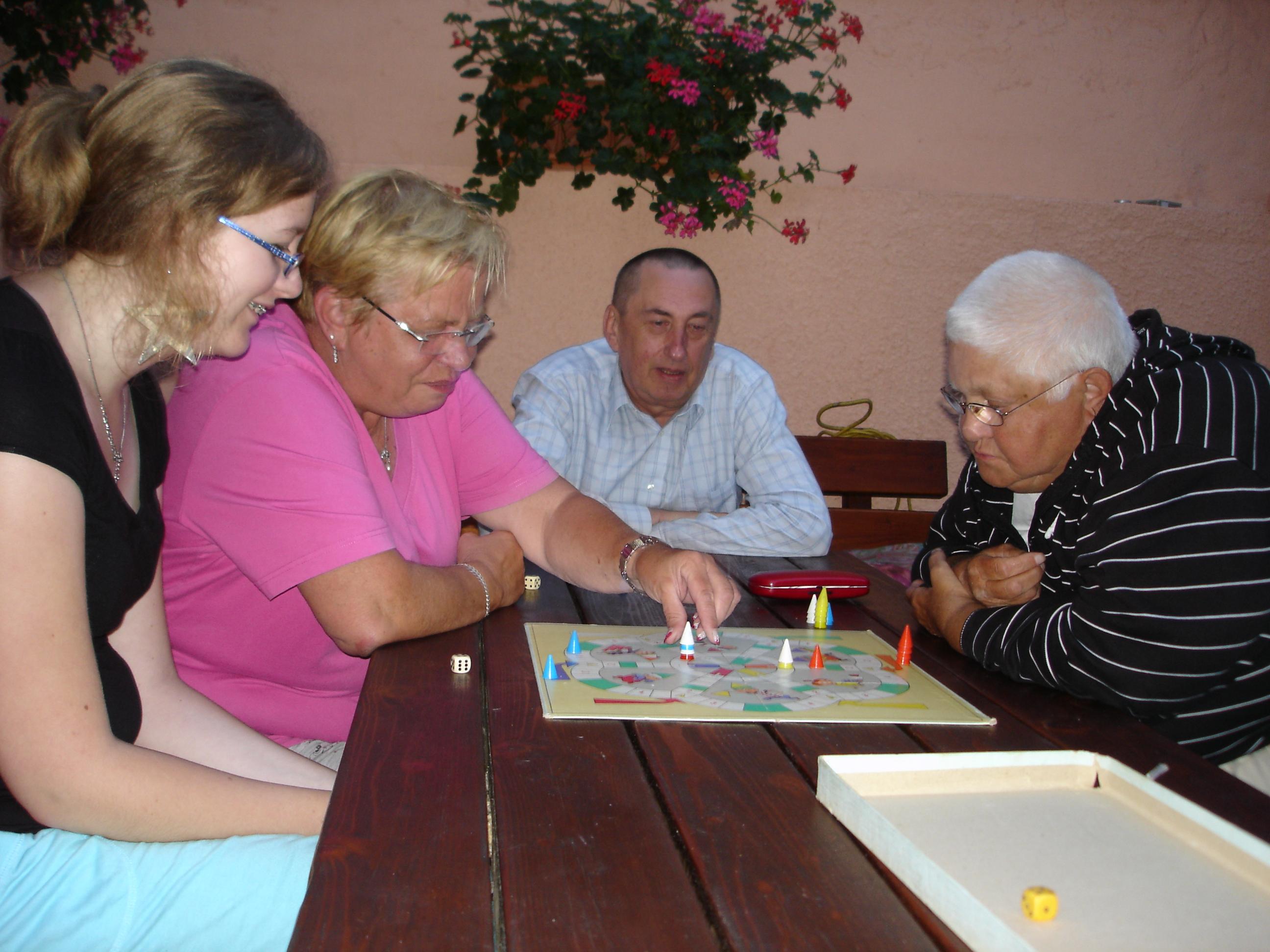Spieleabend im Ferienhaus Teubner