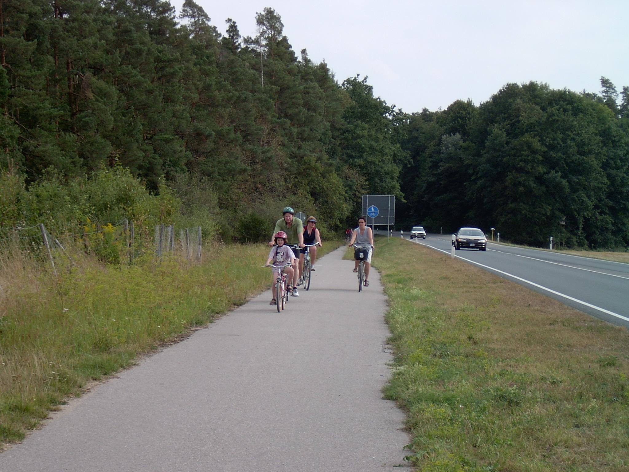 Fahrradweg vom Altmühlsee nach Merkendorf