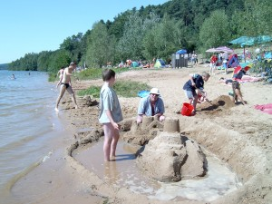 Sandburg bauen am Brombachsee
