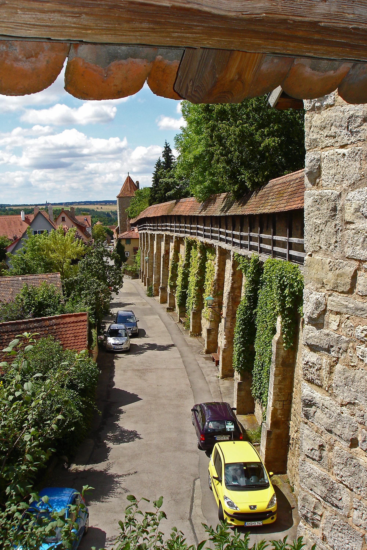 Klingenschütt v.Stadtmauer Rothenburg ob der Tauber