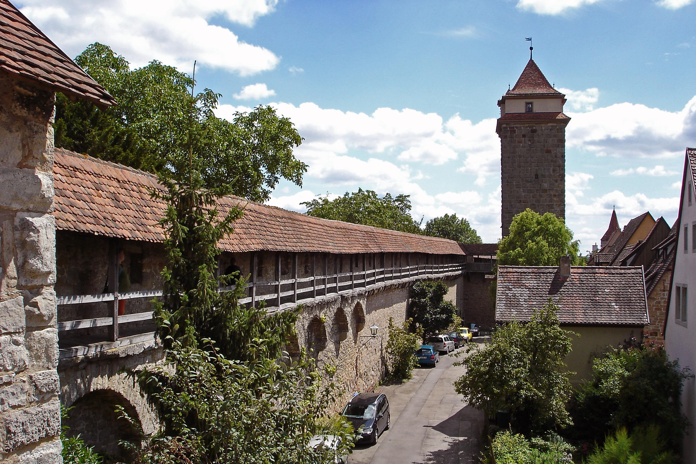 Stadtmauer und Rödertor Rothenburg ob der Tauber