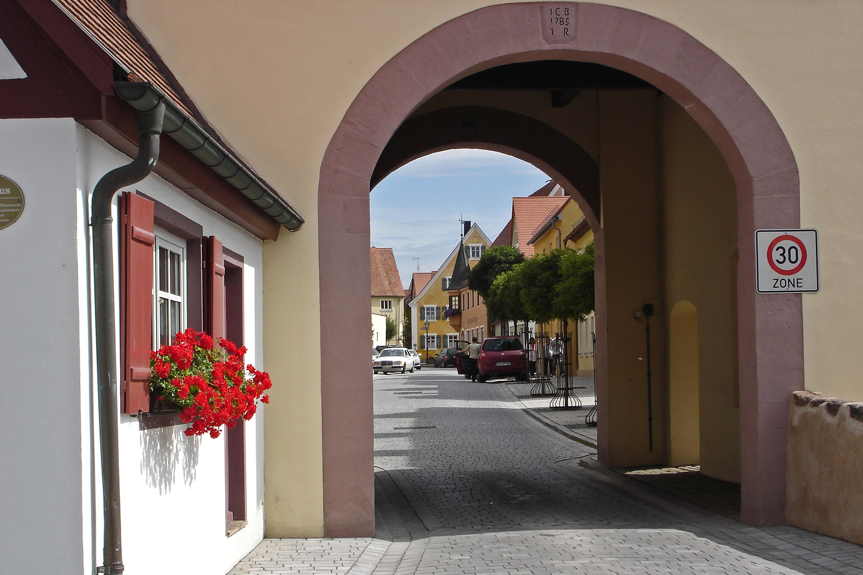 Blick in die Hauptstraße Merkendorf
