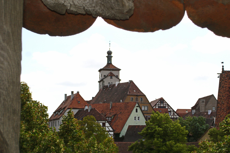 Weißer Turm v.Stadtmauer Rothenburg ob der TauberA