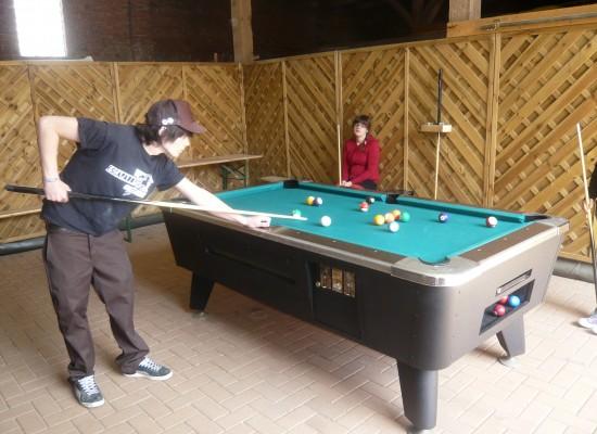 Billard in der Spielscheune - Ferienhaus Teubner